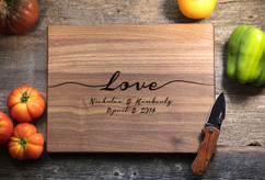 Walnut Personalized Cutting Board ~ Infinite Love
