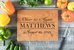 Cherry Personalized Cutting Board ~ Couple Stack