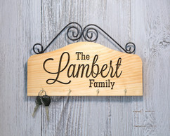 Personalized Family Key Holder - The Family