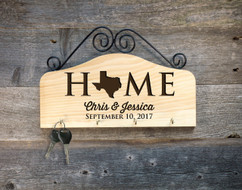 Personalized Family Key Holder - State Home