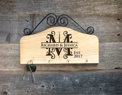 Personalized Family Key Holder - Initial