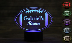 Personalized LED color changing  sign - Football