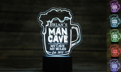 Groupon AU - Personalized LED color changing  sign - Man Cave