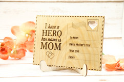 Groupon AU - Personalized Wood Standing Post Card - Mom