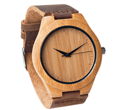 Wood Engraved Personalized Bamboo Watch W#65 - Crux
