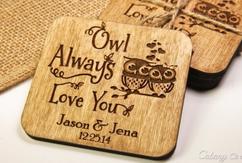 Groupon AU - Personalized Coaster Set - Owl Love You