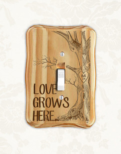 Groupon AU/NZ - Personalized wood light switch -  Love Tree Grows