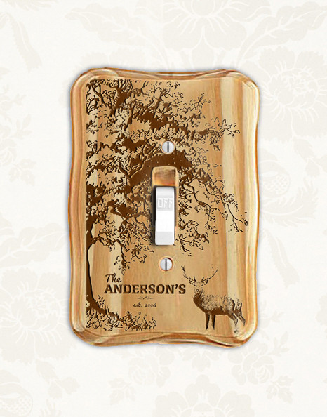 a7c741c4f1 Groupon AU NZ - Personalized wood light switch - Deer - Cabanyco