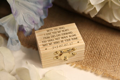 LUX - Personalized Trinket Box - With this ring