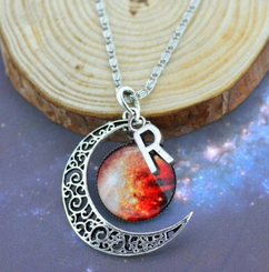 Groupon AU/NZ - Initial Charm Moon Pendant 3 - Inferno