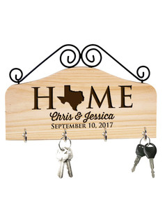 Groupon AU/NZ - Personalized Family Key Holder - State Home