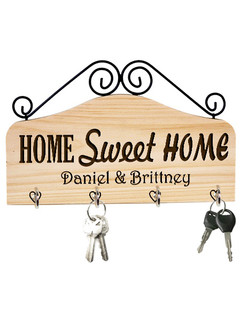 Groupon AU/NZ - Personalized Family Key Holder - Home Sweet Home