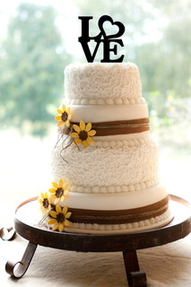 LUX  - Personalized Cake Topper - Love