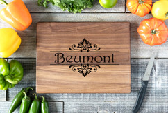 Walnut Personalized Cutting Board ~ Beumont