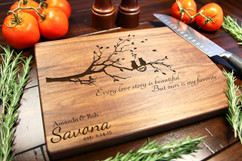 Walnut Personalized Cutting Board ~ Cats Tree