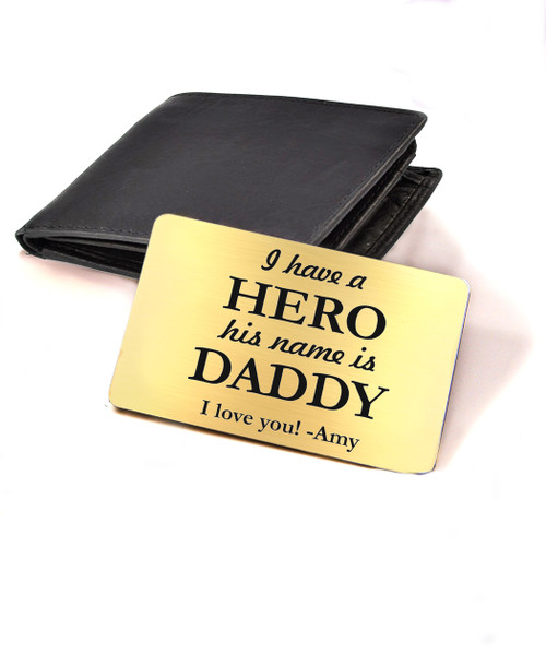 af0bab2319 Grpn UK - Personalized Wallet Card - Daddy Hero - Cabanyco