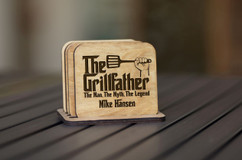 Personalized Coaster Set - Grillfather