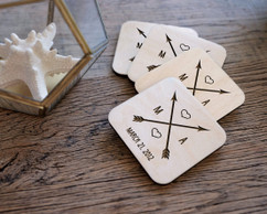 Personalized Coaster Set - Cupids Arrow