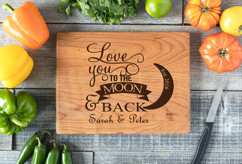 Cherry Personalized Cutting Board ~  Love You To The Moon & Back