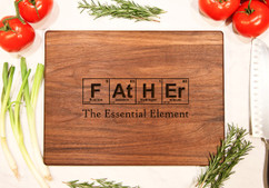 Walnut Personalized Cutting Board ~ Father Elements Chemistry