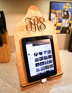 LUX - Cookbook/iPad Stand - Monogram