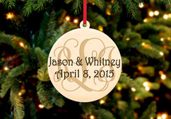 Personalized Christmas Ornament - Monogram Family Name
