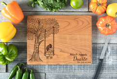 Cherry Personalized Cutting Board ~ Tree Swing