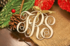 Personalized Christmas Christmas Ornament - Monogram