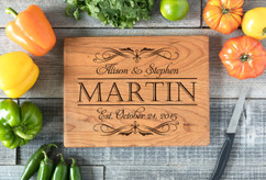 Cherry Personalized Cutting Board ~ Fancy Stack Couple