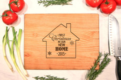 Cherry Personalized Cutting Board ~ First Christmas in our New Home