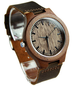 Grpn Italy - Wood Engraved Watch W#85 - Woodland