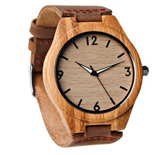 Grpn Italy - Wood Engraved Watch Glow Dials W#68 - Aura