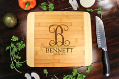 Monogram Initial Personalized Cutting Board HDS