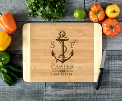 Nautical Anchor Engraved Cutting Board HDS