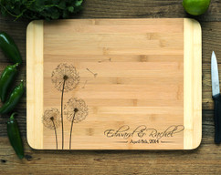 Dandelion Personalized Cutting Board HDS