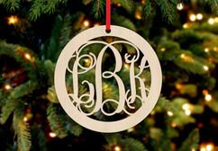 Personalized Christmas Ornament - Circle Monogram