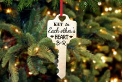 Personalized Christmas Ornament - Key to Each Other's Heart