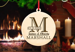 Personalized Christmas Ornament - Imprint Initial