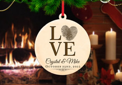 Personalized Christmas Ornament - Love Fingerprint