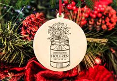 CPersonalized Christmas Ornament - Mason Jar