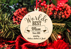 Personalized Christmas Ornament - World's Best Mom