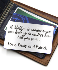 Grpn BE  - Personalized Wallet Card- A Mother Is