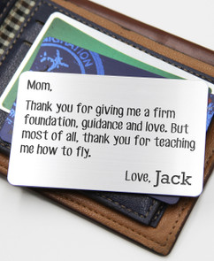 Grpn BE - Personalized Wallet Card- Mother Foundation
