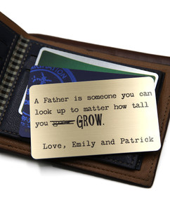 Grpn BE - Personalized Wallet Card- Father I Look Up To