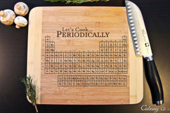 Lets Cook Periodically Personalized  Cutting Board HDS