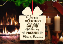 Personalized Christmas Ornament - My Future, Present