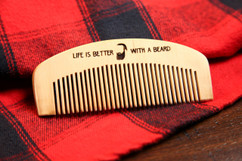 Grpn BE - Engraved Comb - Life is better with a Beard