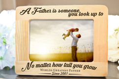 Grpn BE - Picture Frame - A Father is Someone