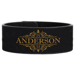 Personalized Leather Bracelet - Vine Name