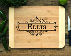 Box Vine Personalized Cutting Board HDS